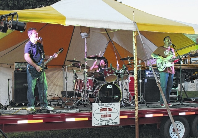 Apt. B entertained at the Fayette County Fair Friday on July 24. (l-r); Mark Thomas (of Sabina), Travis Huffman (of Jeffersonville) and Brad Snively (of Washington C.H.).