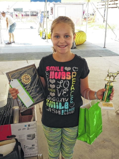 The 2015 Fayette County Junior Fair Dog Rally and Agility Show was held Wednesday morning. Hayleigh Bageant won the Novice B Rally Class.