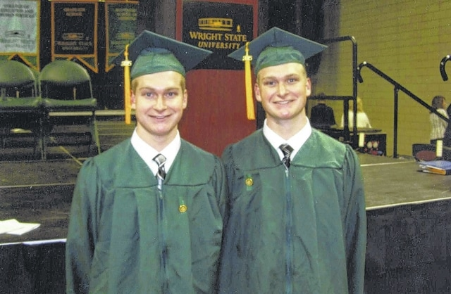 Zac and Isaiah Carson, sons of Herb and Janet Carson, graduated May 2, 2015 from Wright State University in Dayton. They each received their bachelor of science in nursing degrees. Their pinning ceremony was held at the Nutter Center on May 1. Zac and Isaiah have accepted RN positions in Dayton. Both are 2011 graduates of Miami Trace High School.