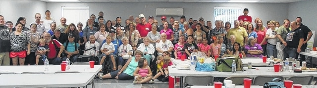 Pictured here are most of the 84 members attending the Edwards-Dawson family reunion.