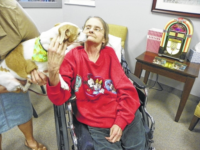 Jill Fordyce and her dog Matilda were reunited Tuesday afternoon at Four Seasons of Washington Nursing and Rehabilitation Center in Washington Court House.