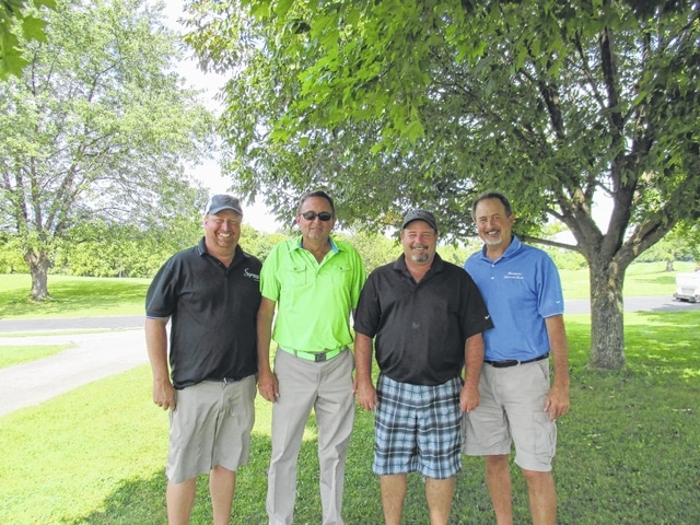 The recent Fayette County Chamber of Commerce Golf Outing winners are pictured here (L to R): Brad Patton, Brent Knisley, Jerry Mount and Mark Heiny.