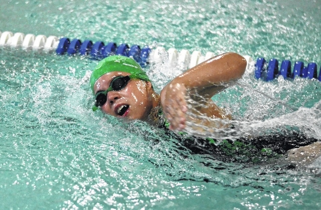 The YMCA would like to invite interested kids who can swim at least one lap at the pool to join the Tsunami Swim Team for their season. The photo is of Julianne Bailey competing in a freestyle event for the Fayette County Family YMCA Tsunami Swim Team.