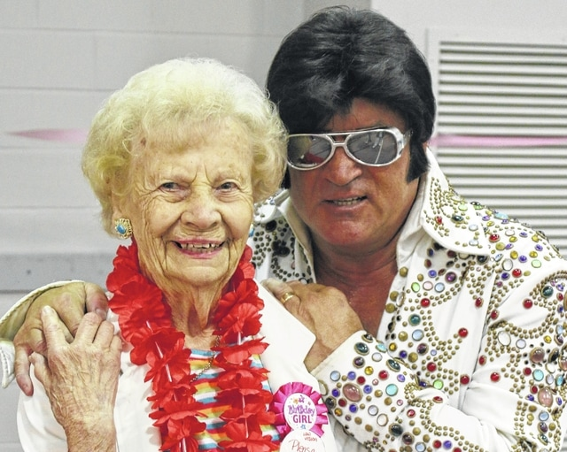 Washington C.H. resident June Milstead was recently surprised with a birthday party featuring her favorite entertainer Elvis (impersonated by Tom Rice, a professional from Columbus) to celebrate turning 90-years-old.