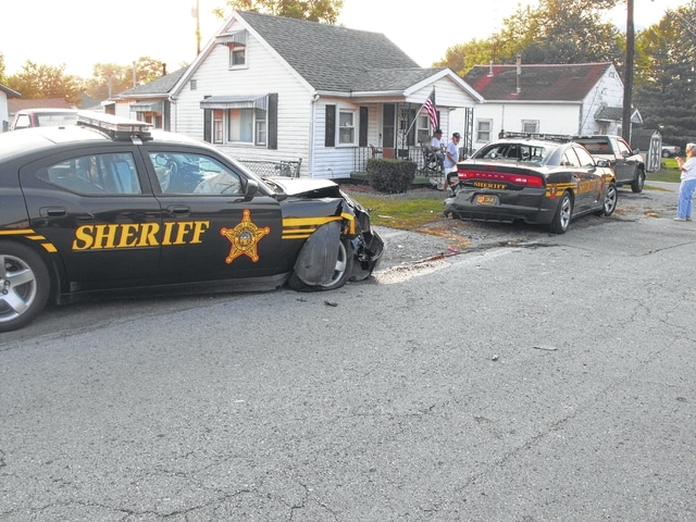 Two Fayette County Sheriff's Office cruisers were involved in an accident during a lengthy high-speed chase on Wednesday. One deputy suffered minor injuries.