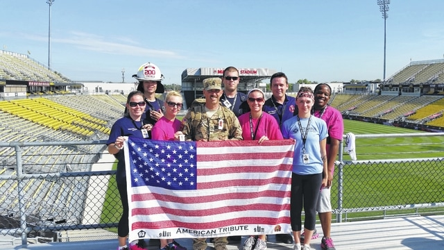 The Wayne Township Fire Department team participated for the first time in the Columbus 9/11 Memorial Stair Climb. The nine-member team included three firefighters from Wayne Township, as well as friends, family and co-workers of Fire Chief Chris Wysong.