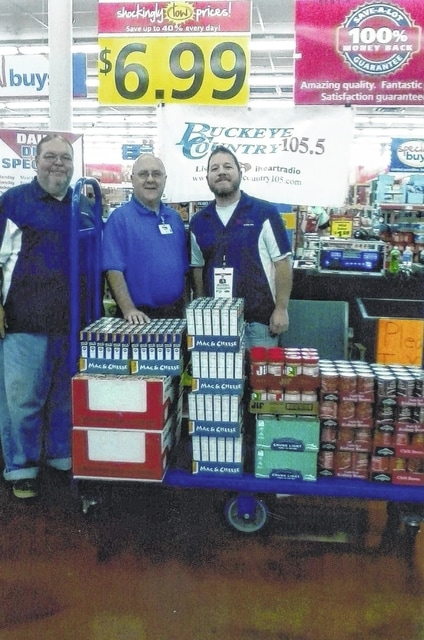 Save-A-Lot hosted a benefit for The Well at Sunnyside on Saturday, Sept. 19 and donated $200 in food to help benefit the program. Save-A-Lot wants to extend a big thank you to Buckeye Country 105.5 for sponsoring this event and to the community for their support for a good cause. Pictured here (L to R): Harry Wright, Save-A-Lot Store Manager Bill Evans and Bryce Matson.