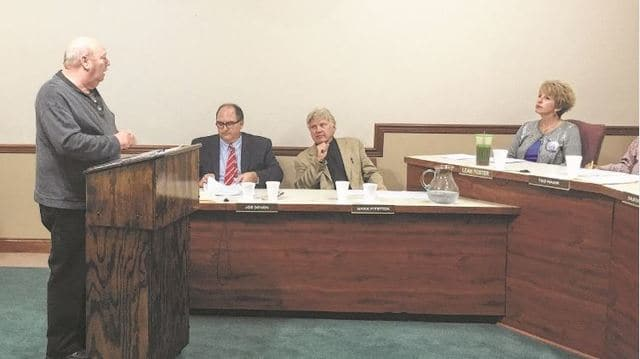 Resident Larry Mongold spoke to Washington C.H. City Council Wednesday night about the status of convicted murderer, Rusty Mootispaw.