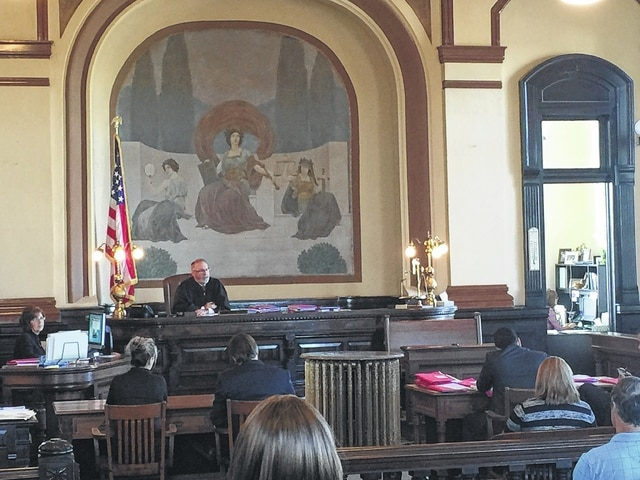Fayette County Common Pleas Judge Steven Beathard accepts Jamie Cook's plea of no contest during Monday morning's hearing.