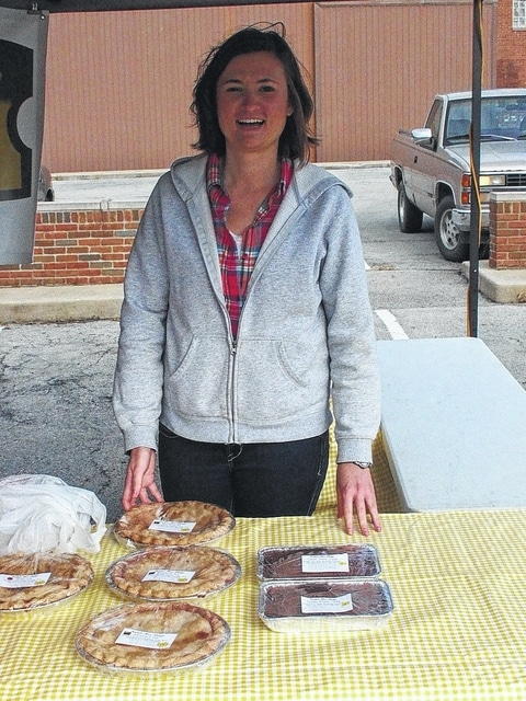 Rachel McClish will have pies and cookies at Wednesday's Fayette County Farmers' Market.