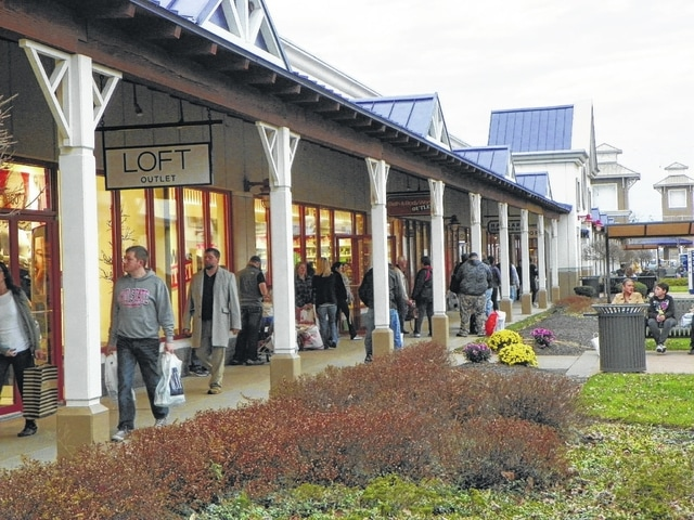 Tanger Outlets in Jeffersonville saw a large crowd for Black Friday throughout the day as many were looking for some of the best deals on name brands.