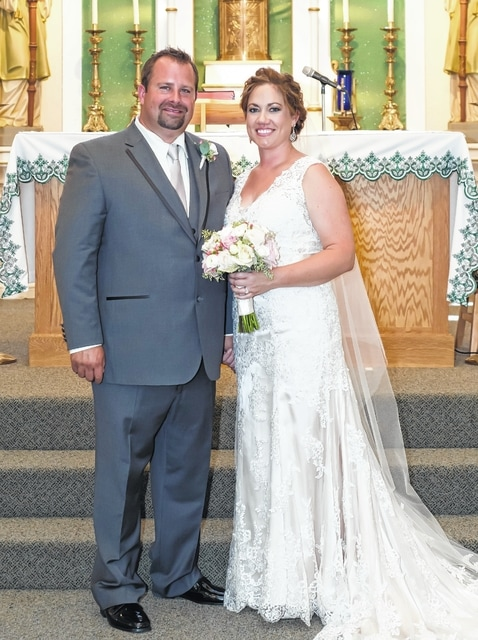 Wes Strahler and Meagan Brackens exchanged their wedding vows on Aug. 1.