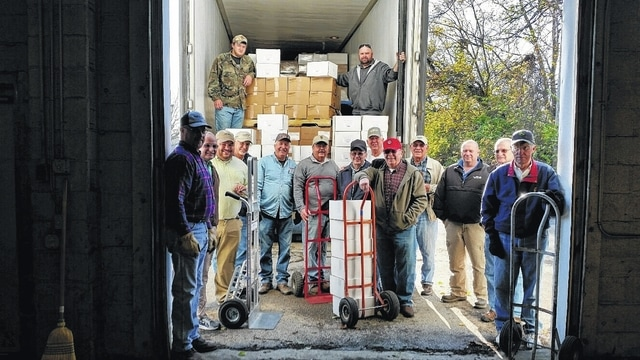 The Good Hope Lions Candy Store is open for business and will be open Monday through Saturday from 10 a.m. until 7 p.m. and on Sundays from 1 to 5 p.m. Pictured here are volunteers unloading the candy recently.