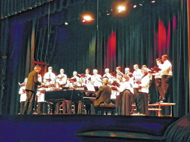 "The Fayette County Choral Society and the Fayette Community Band recently presented ""A Fayette Christmas"" for an audience at the historic Washington Middle School auditorium. Pictured here are the members of the Fayette County Choral Society."