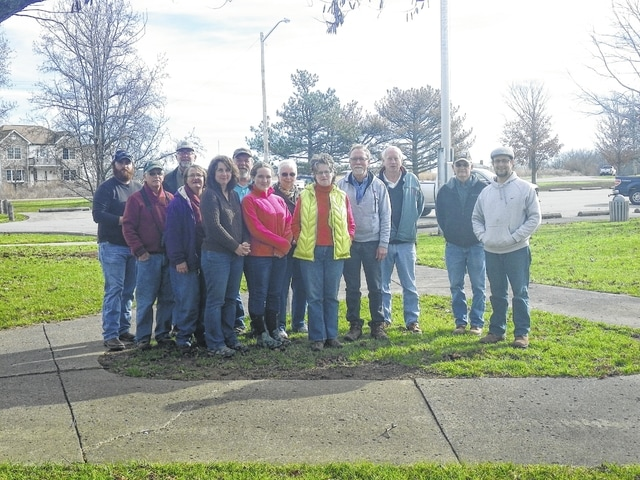 The Fayette Soil & Water Conservation District (FSWCD) hosted a bird count on Dec. 16. Pictured (left to right): front row: Don and Sara Creamer, Brigitte Hisey, Rachael Squadrani and Lissa Brubaker. Back row: Malcolm Miller, Bruce Willis, Dan Fauber, Carolyn DeWeese, Peter Torgerson, Mike Helfrich, Jack DeWeese and Duane Troyer. Absent from the photo was Becky Seaman.