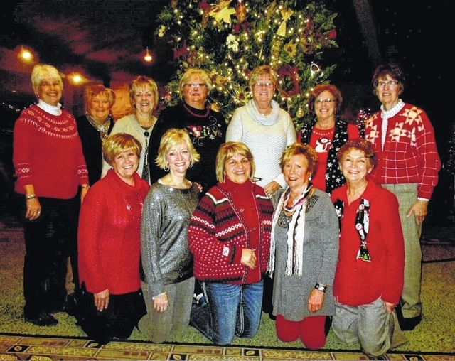 Pictured above are members of the Deer Creek Daisies Garden Club. They recently celebrated the Christmas holidays at Deer Creek Lodge. Kneeling (l to r) Billie Lanman, Emily King, Shirley Pettit, Connie Lindsey, and Marty Cook. Standing (l to r) Julie Schwartz, Kendra Knecht, Rita Lanman, Joyce Schlichter, Judy Gentry, Jeanne Miller and Barbara Vance.