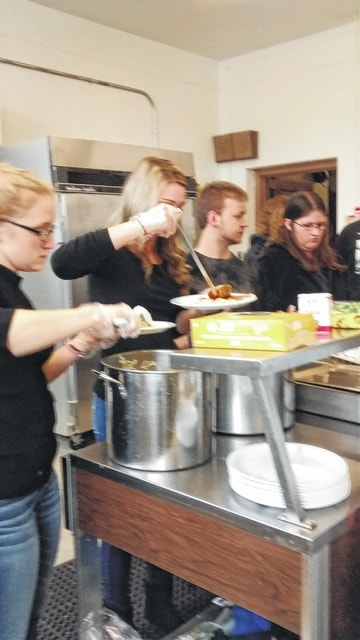 The Miami Trace High School National Honor Society recently visited The Bread of Life Food Pantry at The Well.