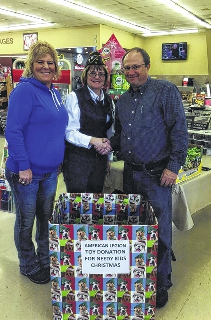 Jeff Detty, of Detty's Supermarket in Jeffersonville, donated hot dogs and has placed a box at his business to accept toy donations.