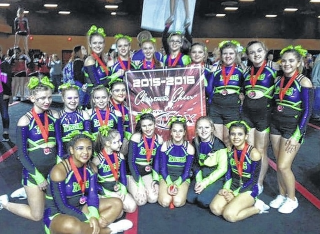 The Twister All-Star Cheerleading team traveled to Sharonville Convention Center for the Christmas Cheer Max Competition. They brought home the trophy for First Place in the Senior Level 2 Division.