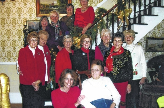 Twelve members and one guest of the Fayette Garden Club gathered at the Pinkerton House recently for their annual Christmas Celebration. Attendees were: Carole Anderson, Chris Boylan and guest Sharon Boylan, Debbie Carr, Marjorie Clifford, Mary Jane Esselburne, Mary Estle, Julia Hidy, Jodi Kirkpatrick, Joanne Montgomery, Linda Morgan, Pam Rhoads and Jean Smith.