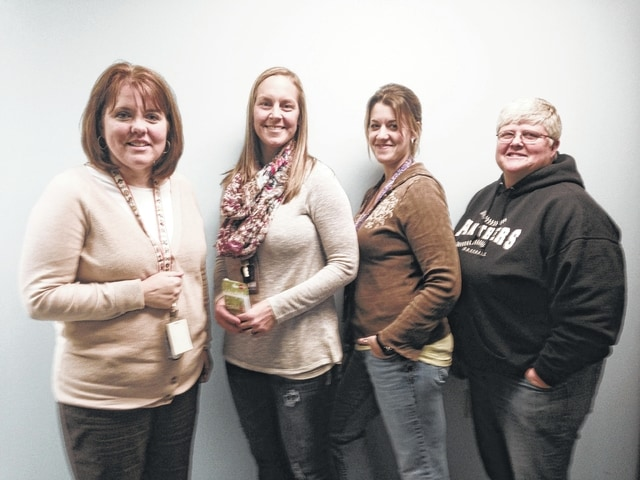 The winners of the recent Fayette County Health Department weight loss challenge, Rolling Rimples, were announced. The first place team was Brenda Whitmer, Jamie Bryant, Erin Elliott and Jill Phillips.