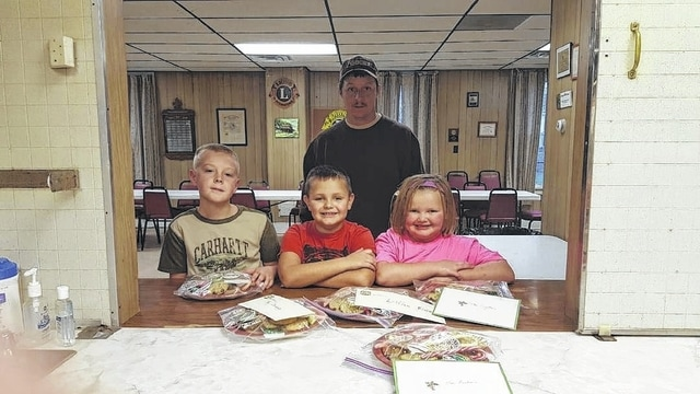 The Jeffersonville Church of Christ Food Pantry added food items, and the 4-H Fun Bunch and Little Clover Funny Bunch 4-H Clubs made plates of cookies and candy for their enjoyment.