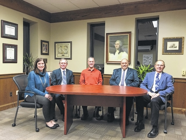 The Washington City School Board of Education met Monday evening at the district office for an organizational meeting and the first of 2016. Pictured (L to R): Jennifer Lynch, Jim Teeters, Craig Copas who was appointed as vice president of the board, Kenny Upthegrove who was appointed as president of the board, and Jon Creamer.