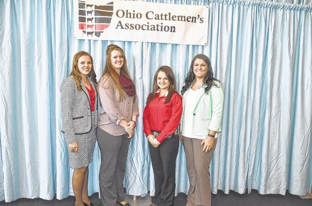 Four youth were awarded the Country Club scholarship that is funded by the proceeds from the miniature golf course at the 2015 Ohio State Fair. Pictured from left to right are: Emily Bauman of Adams County, Haley Drake of Columbiana County, Josie Vanco of Gallia County and Jordan Bonham of Fayette County.