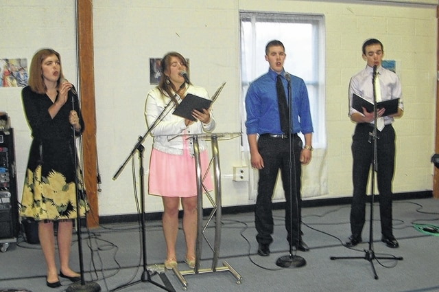 Entertainment for the evening was provided by a quartet from Grace United Methodist Church under the direction of Jeannie Rosendahl. The quartet consisted of Marie Pickerill, Wendy Hawk, Chas Grover and Macrae Conrad.