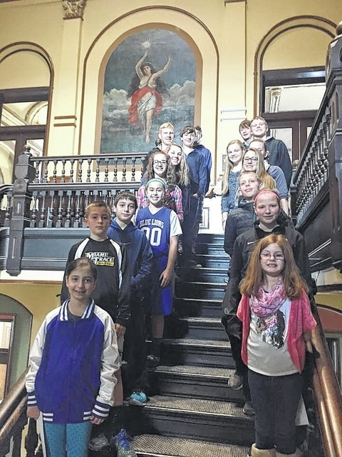 The Buckeye All-Stars 4-H Club enjoyed touring the Fayette County Courthouse during their February meeting. They learned about the Riot of 1894, Cyclone of 1885, the famous Willard Murals, along with seeing all the beautiful architectural history of the building.