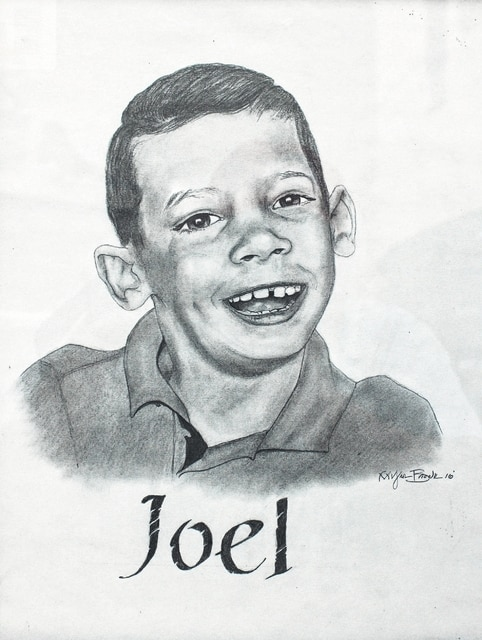 Drawing of Joel Buyer by Myron Brown.