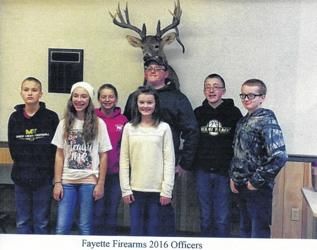 The first meeting of the Fayette Firearms was held on Jan. 26, during which officers for the year were selected. Pictured (L to R): Kyler Batson, Alex King, Anita Pursell, Lexi Hagler, Wesley Milstead, Ben Speakman and Derek Bichum.