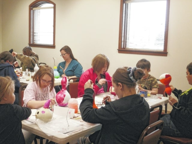 Jeffersonville Branch Library was the place to be for Miss Linda's Gourd Birdhouse Workshop where participants were able to paint their own birdhouses. The birdhouses were as unique as the participants painting them…no two were alike.