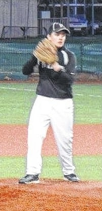 Luke Henry, above, pitched a perfect game for the Miami Trace seventh grade team against Greenfield Tuesday, April 12, 2016 at the VA Memorial Stadium in Chillicothe.