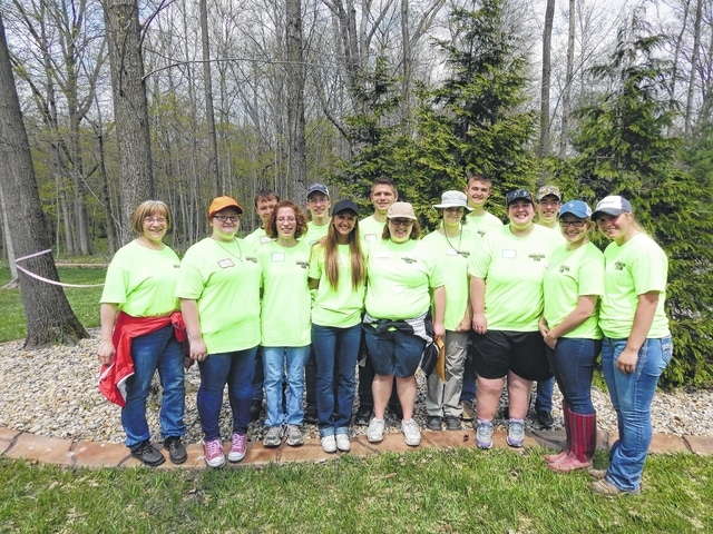 Teams from Miami Trace High School recently competed in the annual Envirothon. The students, from left to right, are: Jacqui Montgomery, Amanda Barrett, Jake O'Dea, Erin Johnson, Evan Johnson, Julia Barrett, Kameron Rinehart, Amber Haynes, Bradleigh Justice, Riley Evans, Katie Zeigler, Ethan Johnson, Sara Rowland and Alexis Schwartz.