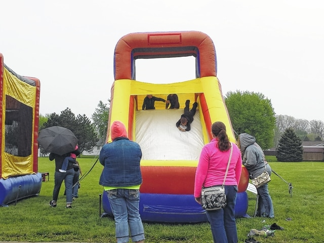 The 26th-annual Community Health Fair & Family Fun Day was held Saturday at Grace Community Church. Children enjoyed the bounce house and slide that were featured at the event.
