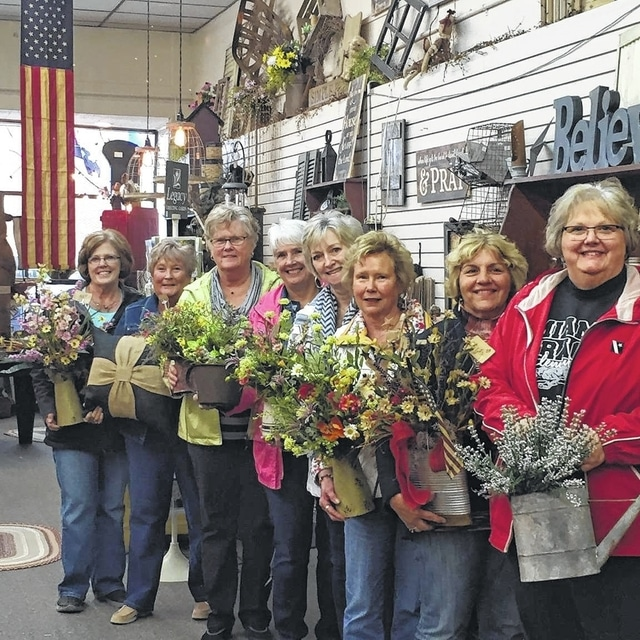 From left to right, Jeanne Miller, Kendra Knecht, Judy Gentry, Julie Schwartz, Emily King, Connie Lindsey, Shirley Pettit and Joyce Schlichter.
