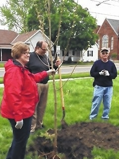 The City of Washington Court House recently proclaimed April 29 as Arbor Day and celebrated the occasion by planting a tree at ABC Pediatrics.