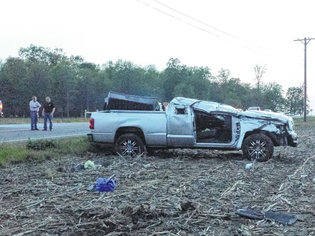 The passenger of this Dodge Dakota truck was killed Wednesday night during a one-vehicle accident on State Route 41 near the Miami Trace Road intersection. The driver was seriously injured, according to Fayette County Sheriff Vernon Stanforth.