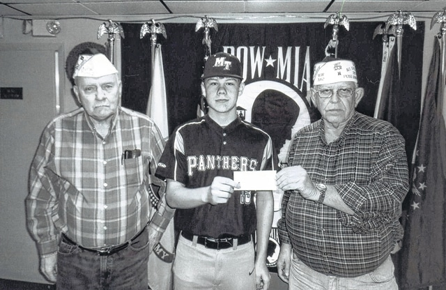 The VFW Post 3762 recently donated to the Miami Trace baseball team. Pictured (L to R): Bob Malone, Jonathon Althouse and Sheldon Litton.