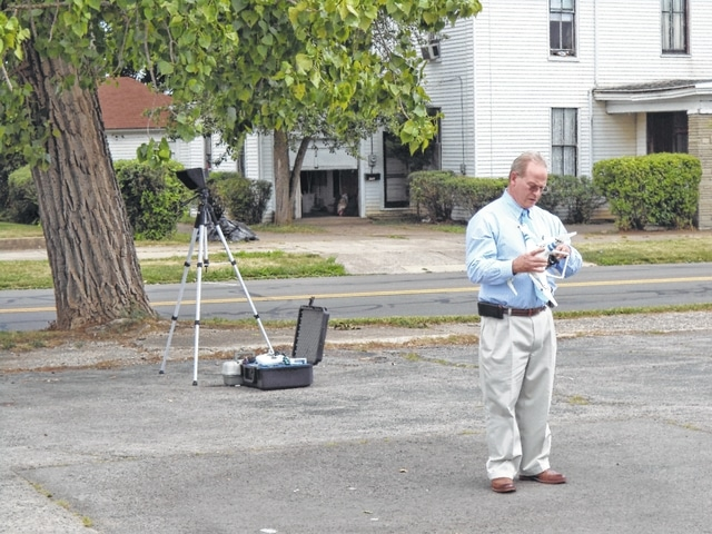 Dr. Stevenson demonstrated drone flight and technology at Carnegie Library's Tech Fair & Tech Toys Demo on Thursday.