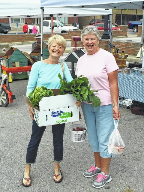 Fayette County Farmers Market attendees have been going green at the market.