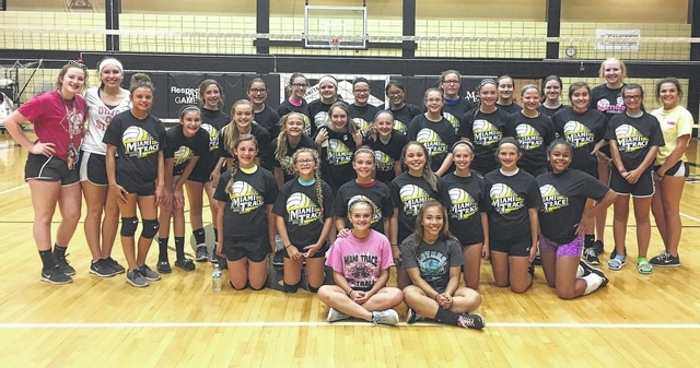 Miami Trace held its middle school volleyball camp June 27-29. The camp was for players who will be in grades 7 and 8 this upcoming school year. The campers are pictured above. The high school volleyball camp is set for July 5-7 under the direction of head coach Doug Mace.