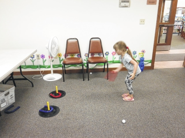 "Jeffersonville Branch Library was the place to be recently with its Indoor Games. Gabriella Webb attended and played horseshoes. The library also kicked off its 2016 Summer Reading Program ""Ready, Set READ."" Come by the Carnegie Public Library in Washington Court House or visit Jeffersonville Branch Library today and sign up."