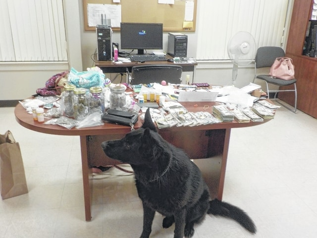 "A large amount of drugs were reportedly recovered from Regina O'Conner's vehicle July 19. O'Conner was originally arrested for allegedly stealing items from the Kroger store in Washington C.H. The Washington C.H. Police Department K-9 officer was utilized for a ""drug sniff"" of the vehicle in the Kroger parking lot."