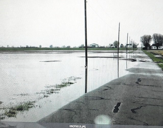 Flooding after heavy rain on the land where the proposed hog facility would be built.