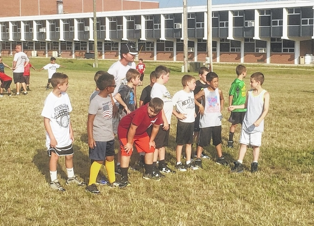 The Miami Trace High School varsity football staff and players, led by head coach Steve Bartlett, put on a successful camp recently for the youth in grades 3 through 6. 2016 will be the first season for the Miami Trace Youth Football Program.