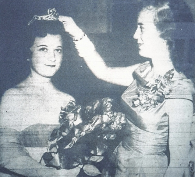 """According to the July 22, 1958 edition of the """"Washington C.H. Record-Herald,"""" Jean Persinger was crowned as the Fayette County Fair Queen by the 1957 Fair Queen Mrs. John Scott."""