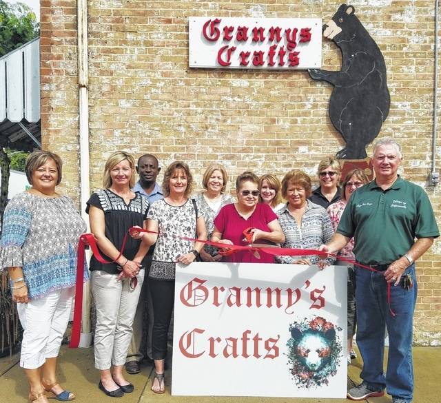 The Chamber of Commerce recently welcomed Granny's Crafts to their new location at 2 N. Main St. in Jeffersonville.