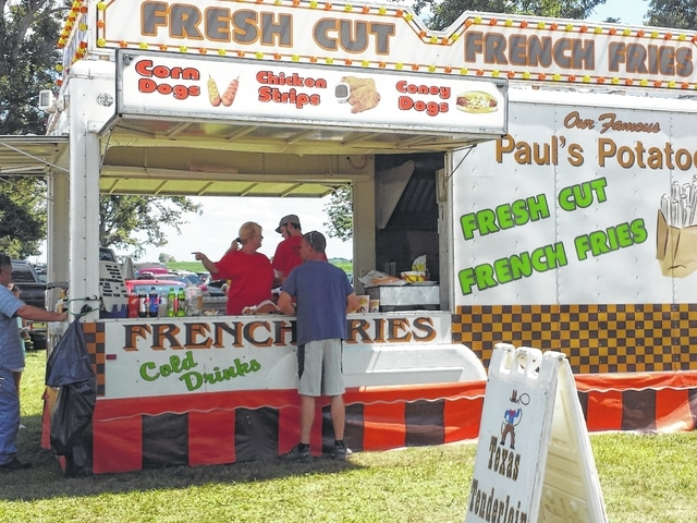 There were a total of four food vendors including this Fresh Cut booth.